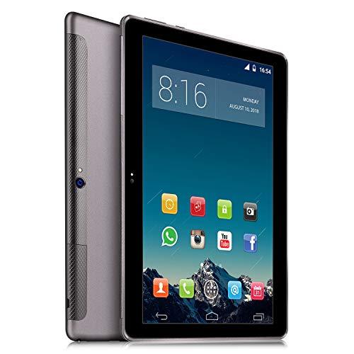 4G LTE Tablet PC 10 Zoll Dual SIM - TOSCIDO Android 9.0,Quad Core,64GM eMMC,4GB RAM,Doppelt Lautsprecher Stereo,WiFi/Bluetooth/GPS/OTG - Grau