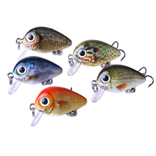 Clispeed 5pcs Esche Artificiali da Pesca Morbide innow Esche Crankbaits da Pesca Artificiali Ancorette per Trota Bass Salmone
