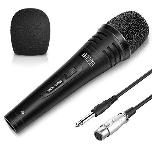 TONOR Dynamischer Mikrofon mit 16,5ft (5,0 Meter) Kabel für DVD/Fernsehen/KTV Audio/Reverberator/Mixer/Tourbus