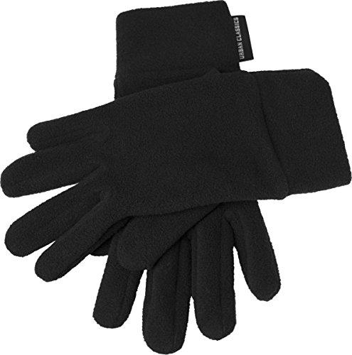 Urban Classics Unisex Polar Fleece Gloves Handschuhe, schwarz (# 7), Medium (Herstellergröße: S/M)