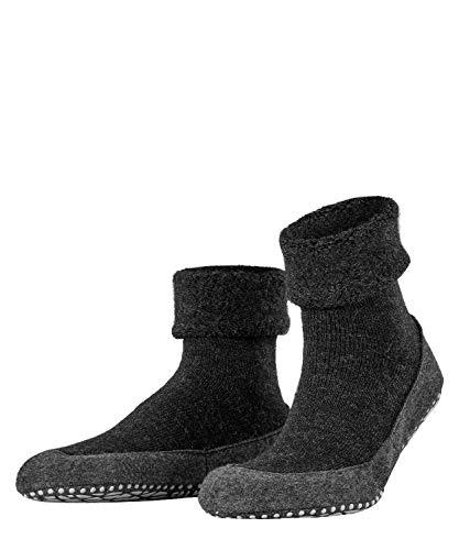 Falke Cosyshoe, Pantofole A Calzino Uomo, Lana Merino, Grigio (Anthracite Melange 3080), 41-42 (UK 7-8  US 8-9), 1 Paio
