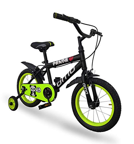Omobikes Panda Kids Cycle 14 inch for Kids 3-5 Orange