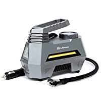 Innovative and Compact Design : The portable tire compressor takes up very little space, which allows you to keep it in the automobile and give you help in time. Fast Inflating Speed & Easy To Use : The auto air compressor inflates a standard mid-siz...