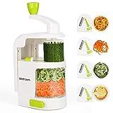 Espiralizador vegetal Sedhoom Cortador de Verduras MultiFunción de Alimentos 4 Cuchillas,...