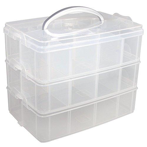 Rayher Box assortimento con manico, 23.1 x 15.6 x 18.5 cm