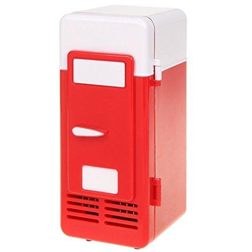 ThreeH USB Minifrigo Birra Refrigeratore/Riscaldatore Frigorifero Portatile for Bevande in lattina...