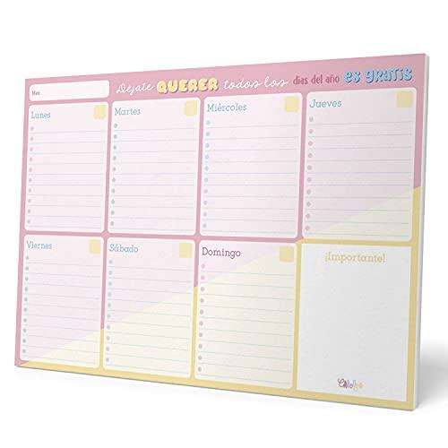 Bloc Planificador Semanal A4 Carouge Blue & Pink