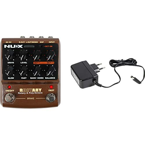 NUX Roctary Rotary & Poly-Octave Effects Pedal + Power Supply