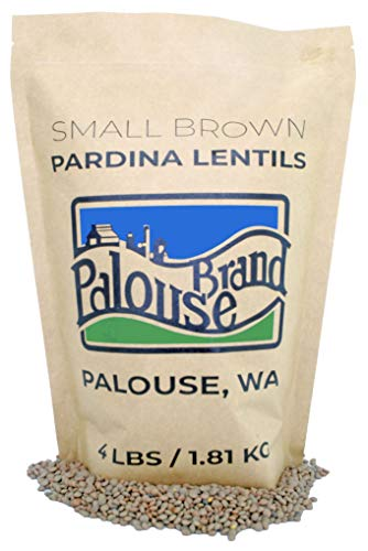 Non-GMO Project Verified Pardina Lentils (Small Brown Lentils) | 4 LBS | 100% Non-Irradiated | Certified Kosher Parve | USA Grown | Field Traced (4 LB Kraft Bag)