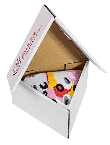 Pizza Socks Box Slice Capricciosa - Donna Uomo - 1 paio di Calze - Taglia 36-40