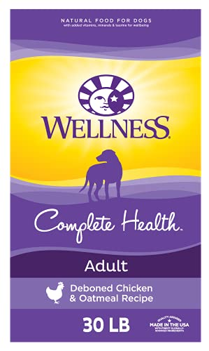 Wellness Complete Health Dry Dog Food with Grains,...