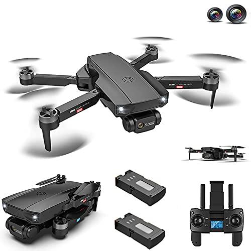 LiLong HJ188 GPS 4K Dual Camera Drone con Motore Brushless, 5G WiFi FPV Drone con Funzione Follow Me, Drone Professionale per Adulti, 50 Min Volo con 2 batterie