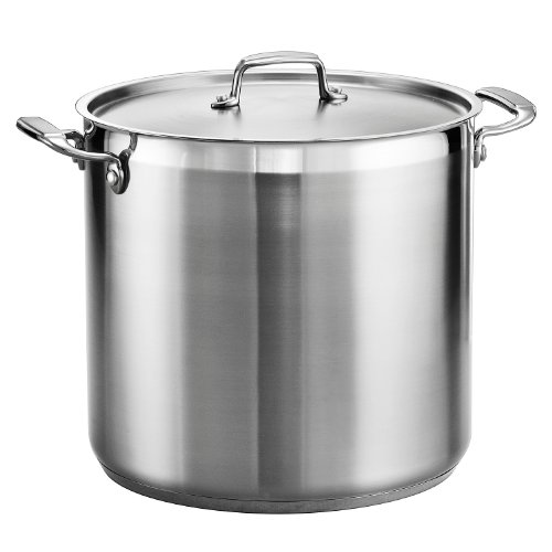 Tramontina Covered Stock Pot Stainless Steel 20 Qt