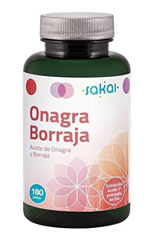 Sakai –Onagra y Borraja- Alto aporte de GLA- Equilibrio y bienestar femenino- Alivio de las molestias menstruales, síntomas de la menopausia y síndrome premenstrual- Cuidado de la piel- Salud Femenina