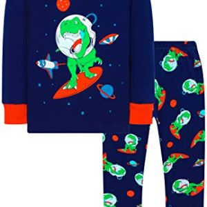 Boys Truck Pajamas Christmas Kids Cotton Pjs Children Excavator Cute Sleepwear