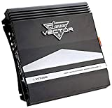 4-Channel High Power MOSFET Amplifier - Slim 2000 Watt Bridgeable Mono Stereo 4 Channel Car Audio Amplifier w/ Crossover Frequency and Bass Boost Control, RCA input, and Line Output - Lanzar VCT4110