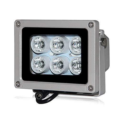 Lionina 6 LED Luce Bianca Night Vision IR Illuminatore Lampade IP65 Lampada Impermeabile per Videosorveglianza