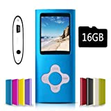G.G.Martinsen Blue with White Versatile MP3/MP4 Player with a Micro SD Card, Support Photo Viewer, Mini USB Port 1.8 LCD, Digital MP3 Player, MP4 Player, Video/Media/Music Player