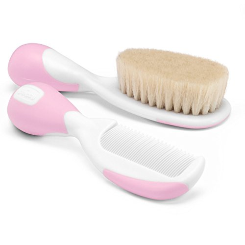 Chicco Brush and Comb- Pink, 2 Piece