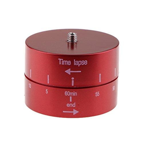 B Blesiya Time Lapse Mount Testa Treppiede Panoramica Ciclo Ruota 360/60 Minuti per Fotocamere Digitali - Rosso