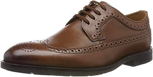 Clarks Ronnie Limit, Zapatos de Cordones Brogue, Braun British Tan Leather, 43 EU