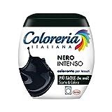 Coloreria Italiana Grey Colorante Tessuti e Vestiti in Lavatrice, colore Nero Intenso, 1 Confezione,...
