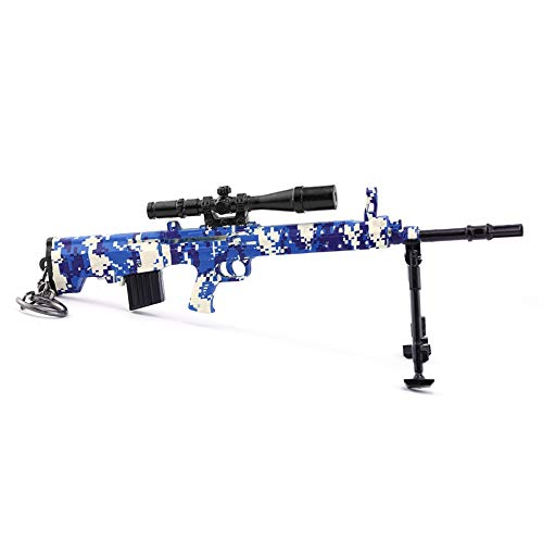 Chaorui - Games Collection 1/6 Metal 88 SKS. Pistola de rifle de francotirador, modelo figura de acción, juguetes colección, llavero para regalo, Mezcla