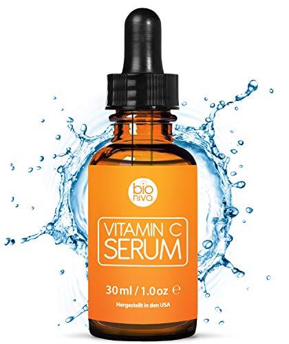 biojura | Het beste vitamine C-serum voor je gezicht met 20% vitamine C, hyaluronzuur,  vitamine E en  jojoba-olie | Natuurlijke anti-aging, anti rimpel, organische collageen booster | Serum met organische ingrediënten | 30 ml