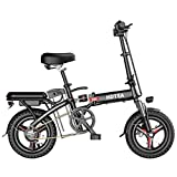 Photno Folding Electric Bike 250W Aluminum Folding Electric Bicycle City Commuter Ebike with Pedal &Smart LCD Backlight 3 Riding Modes for Adult and Teens (Black)