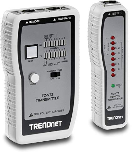 TRENDnet Network Cable Tester, Tests Ethernet/USB & BNC Cables, Accurately...