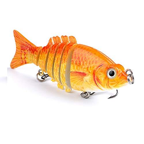 Attrezzi da pioggia per la pesca da uomo Esca di pesce classica multi-sezione esca di pesce calamaro d'acqua dolce all-you-can-eat Occhi realistica 3D di scala realistica Calotta di sicurezza gancio,