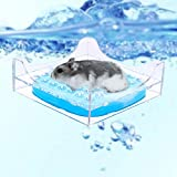 HEEPDD Baignoire Hamster, Plaque De Refroidissement Hamster Lit Refroidissement D'été Matelas avec Boîte De...