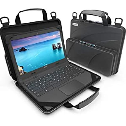 UZBL 11-11.6 inch Work-in Chromebook Laptop Case with Pouch and Shoulder Strap (Black PU)<br><br>               <strong>Price</strong>: $36.95        <strong>Rating</strong>: 4.7      <strong>Review</strong>: 1347