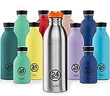 24Bottles Borraccia Super Leggera Per L'Acqua | Bottiglia Riutilizzabile in Acciaio Inox senza BPA | Urban Bottle | Design Originale Italiano - Erica 500 ml