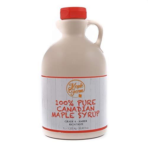 MapleFarm - Puro sciroppo d'acero Canadese. Grado A, Amber - 1 Litro - Pure maple syrup - sciroppo...