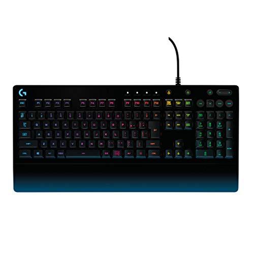 Logicool G ゲーミングキーボード 有線 G213 パームレスト メンブレン キーボード 静音 LIGHTSYNC RGB 国内...