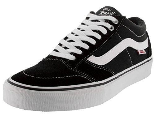 Vans TNT SG Black/White Skateboard Shoes-Men 9.0, Women 10.5
