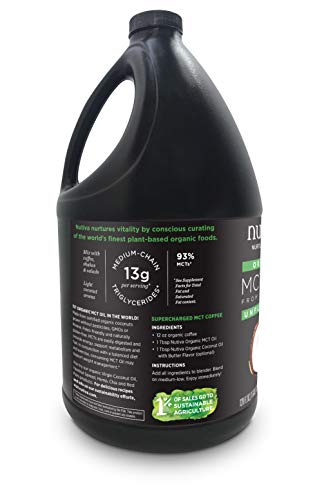 Nutiva Organic MCT Oil, Keto & Paleo Friendly, Unflavored, 1 Gallon 1