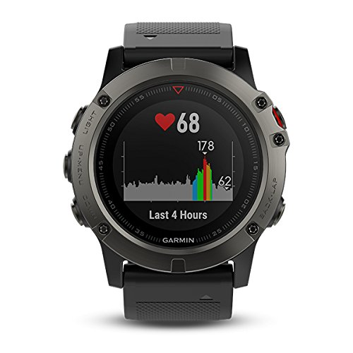 Garmin fenix® 5X Sapphire Multi-Sport GPS Watch, One Size