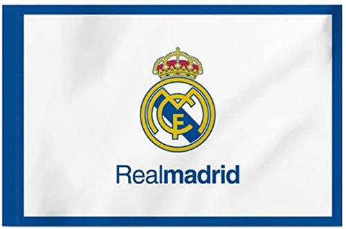 Bandera del Real Madrid 150X100CM (Escudo con Real Madrid)