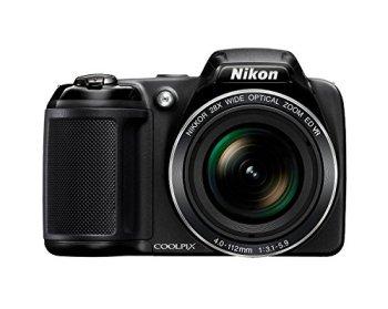Nikon Coolpix L340 20.2 MP Digital Camera with 8GB Memory Card Bundle (28x Optical Zoom, 3.0-Inch LCD, 720P Video, Black, US Model)