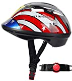 Toddler Helmet - Adjustable from Infant to Toddler Size, Ages 1 To 3 - Durable Kids Bicycle Helmets with Fun Sporty Design Boys and Girls will LOVE - CSPC Certified for Safety (AMERICANEAGLE)