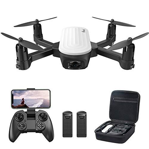 Potensic Drone con Telecamera 2K, RC Quadcopter Drone Pieghevole WiFi FPV Droni, Sensore di Gravit, Controllo Gestuale, Flusso Ottico, Modalit Senza Testa 3D Flip, 2Batterie con 20 Minuti di Volo