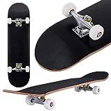 COSTWAY Skateboard Planche à roulettes en Bois d'Erable pour Les Enfants,...