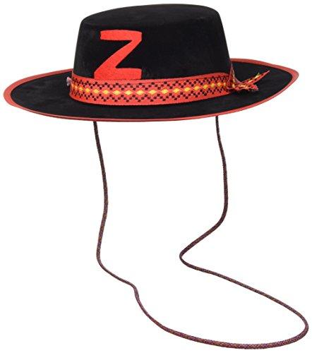 Carnival 05571 - Cappello Cavaliere Nero medio in bifloccato
