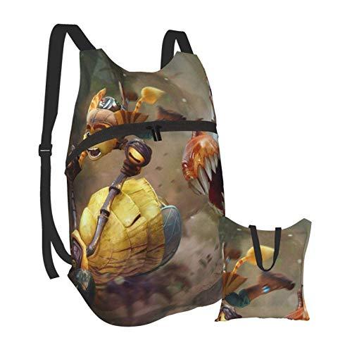 Ratchet Clank Rift Apart Zusammenklappbarer tragbarer Rucksack Lässige, leichte Tasche Wasserdichtes HighCaity-Reisecamping für Rucksäcke von College-Studenten