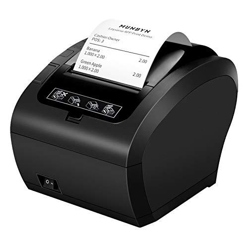 [WIFI 2.0] 80mm Nero Stampante termica Auto-Cut Supporto Cassetto 300mm/sec MUNBYN Diretta con USB Ethernet Supporta Windows/Linux System/MAC/ESC/POS