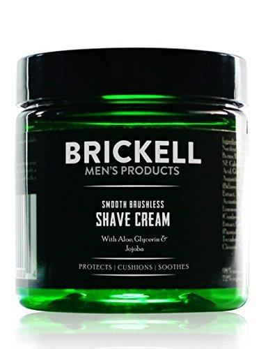 Brickell Men's Products Crema da Barba Delicata per uso senza Spazzola - 147 ml - Naturale ed Organico - Non profumata