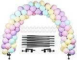 LANGXUN Ensemble de Ballon Noir, kit d'arche de Ballon Semi-Circulaire, 2 Pinces...