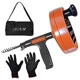 DrainX Drain Auger Pro | Heavy Duty...